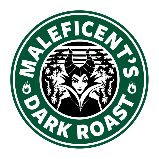 Maleficent's Dark Roast TeePublic Disney starbucks