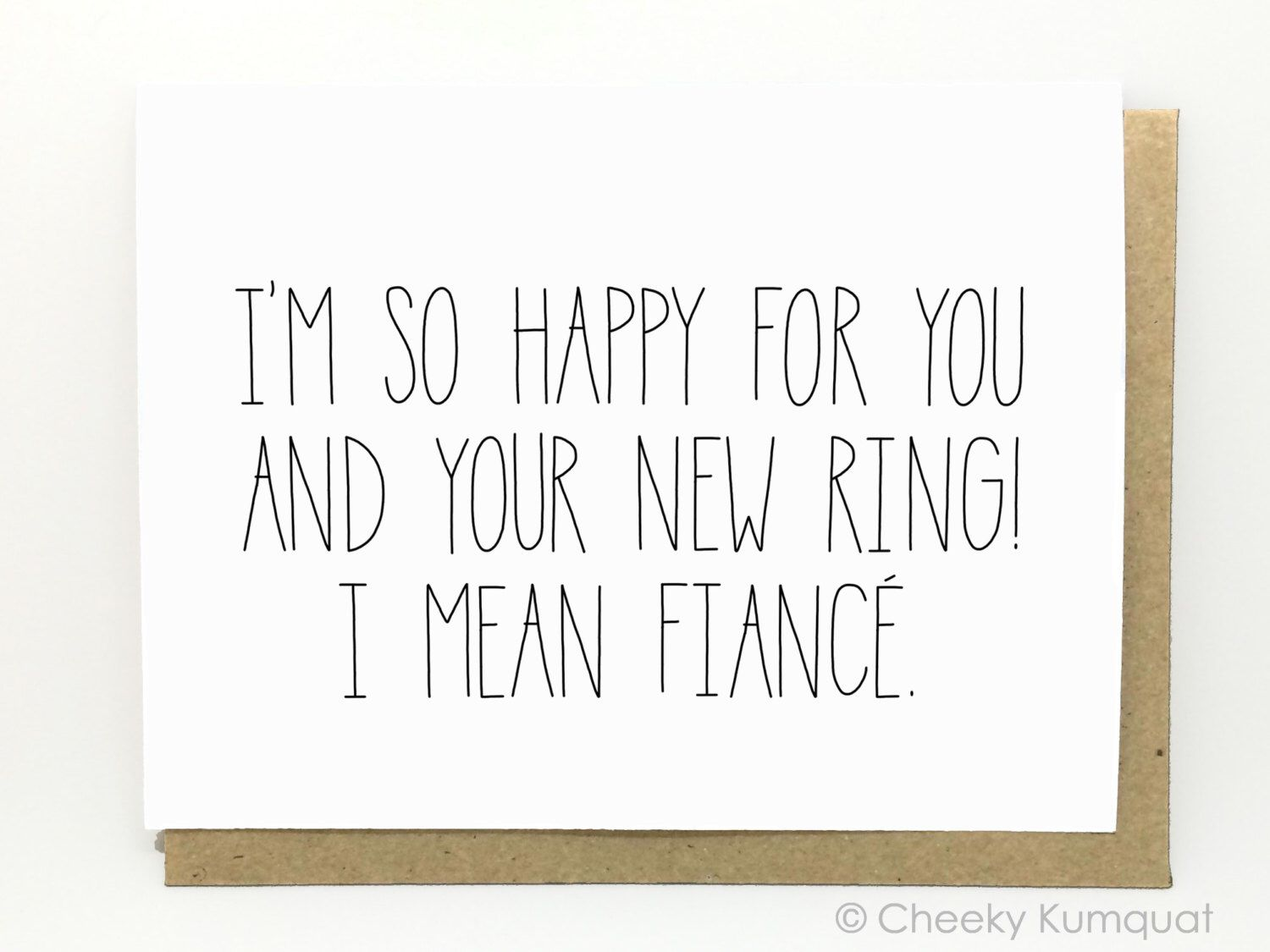 Funny engagement card engagement card new ring etsy
