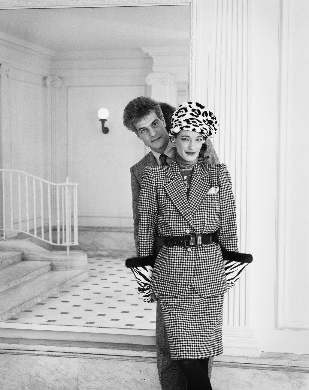 Loulou de la Falaise and Thadee Klossowski (<em>Interview</em> magazine), New York, 1983.