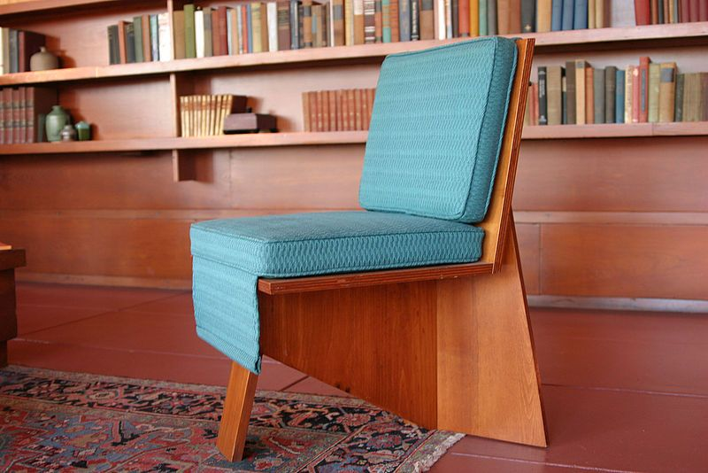 A Chair Within A Frank Lloyd Wright Designed Interior Image Via Wikimedia