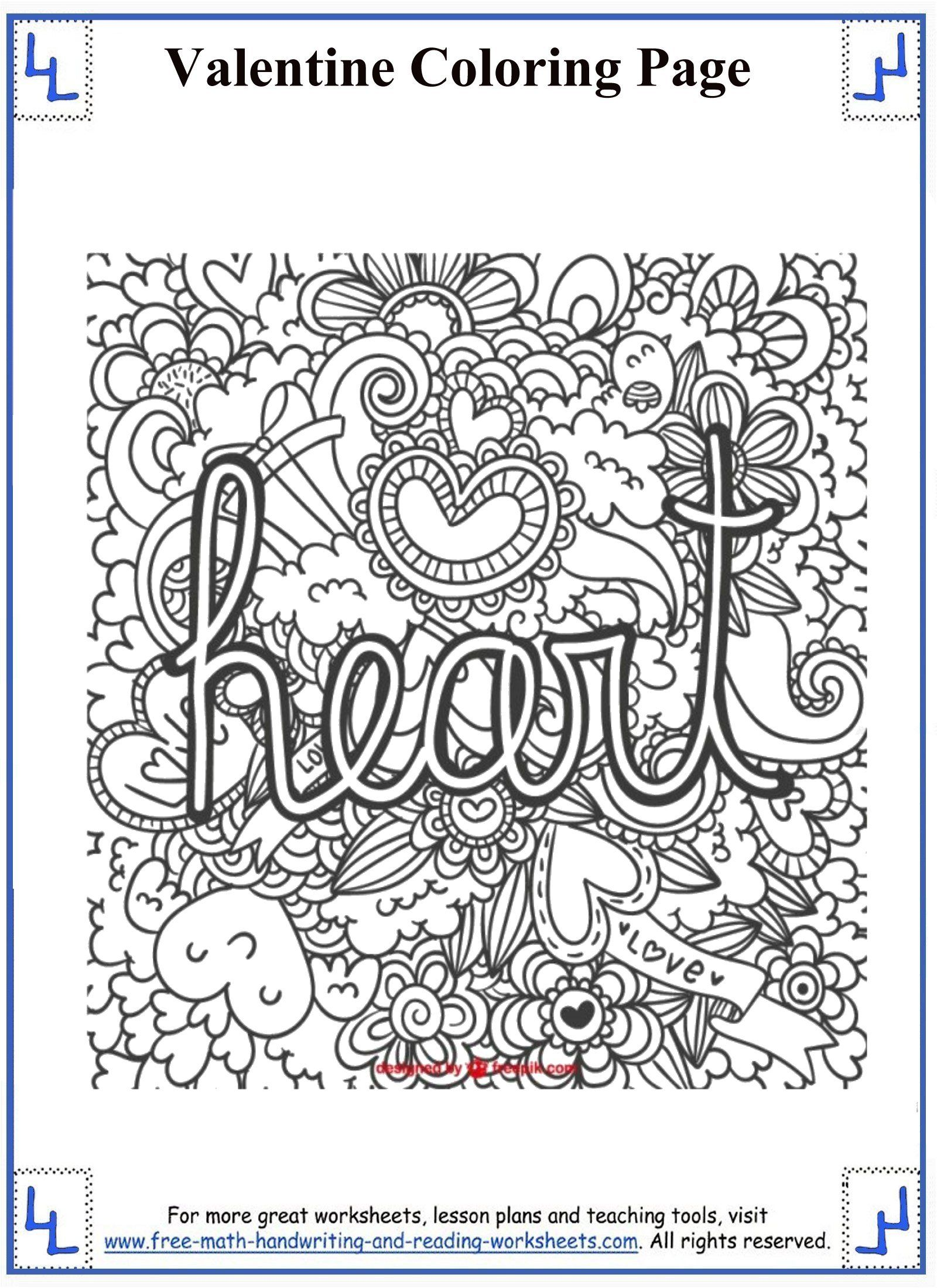 Valentines Day Coloring Pages   Valentines day coloring page ...