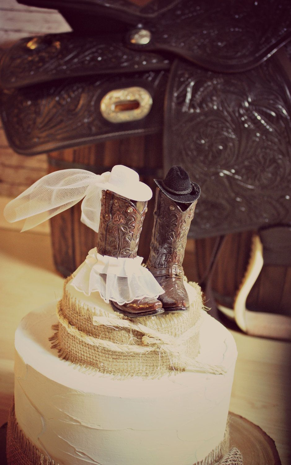 Cowboy boots wedding cake topperwestern themed weddingwestern