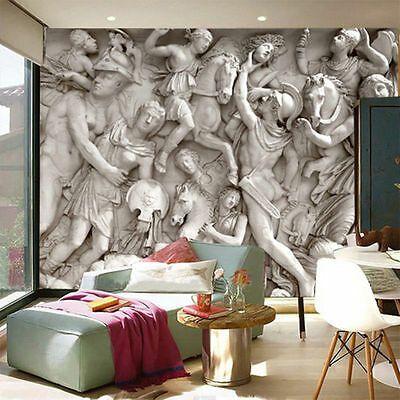 Best 3D Sitting Room Bedroom Tv Background Roman Statue Mural 400 x 300