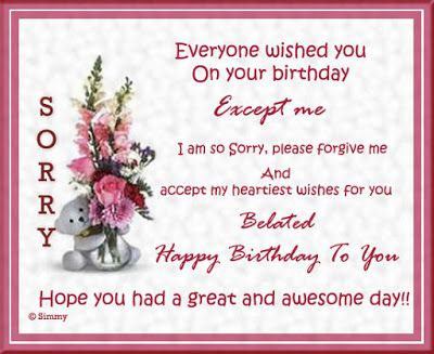 Pin By Wishes And Messages On Belated Birhday Images Pinterest