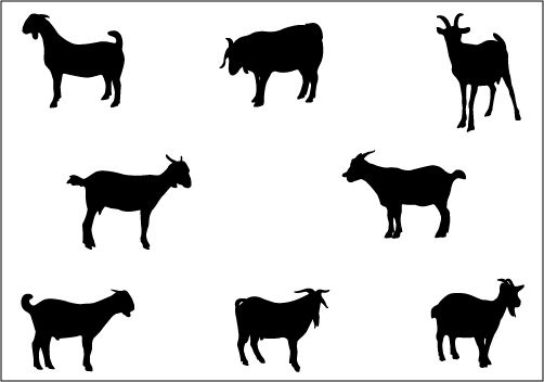 Goat Silhouette Silhouette Svg Png Jpg Eps Silhouette Vector Silhouette Clip Art Animal Silhouette
