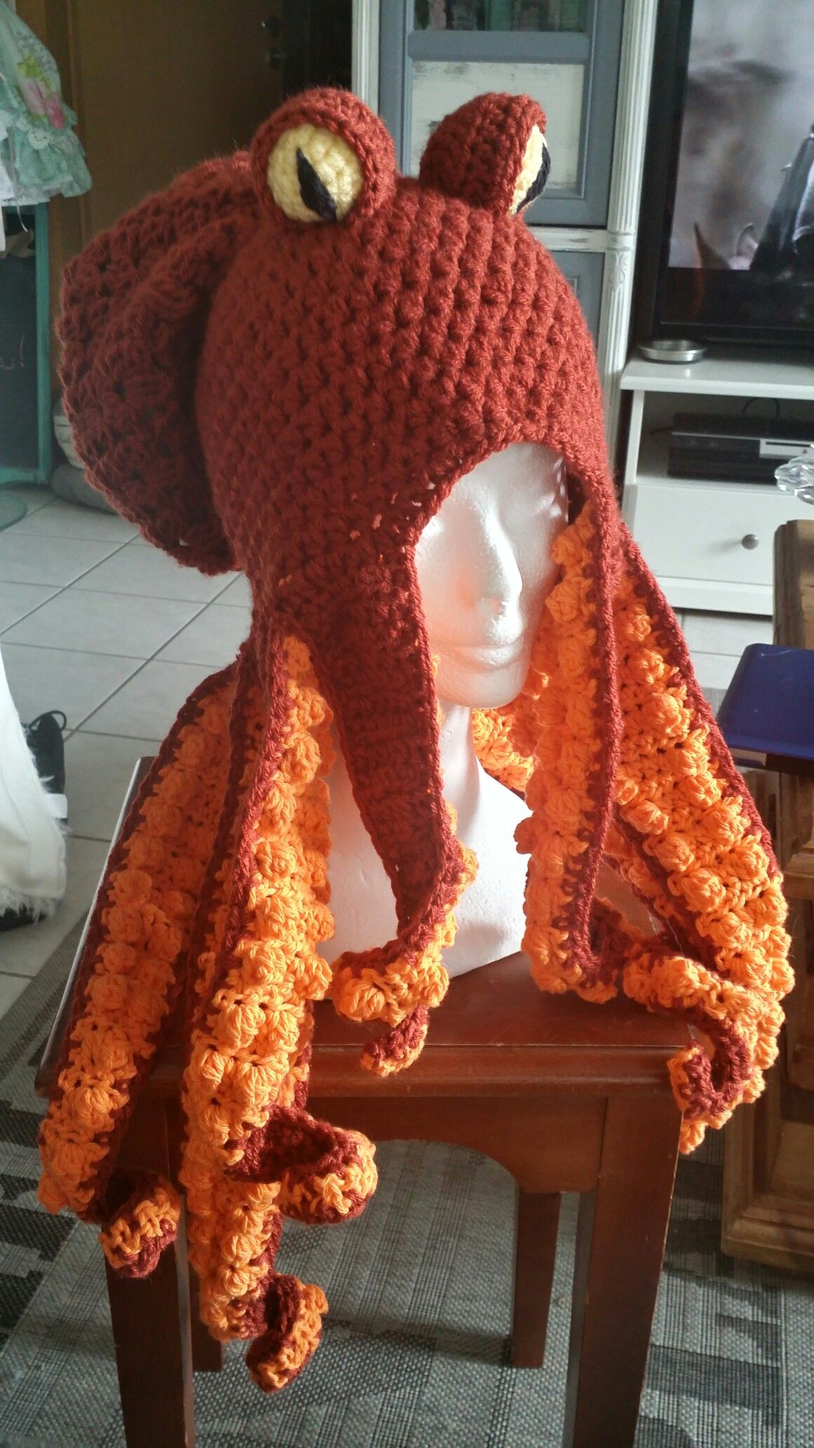 Crochet octopus hat …   Knit and…