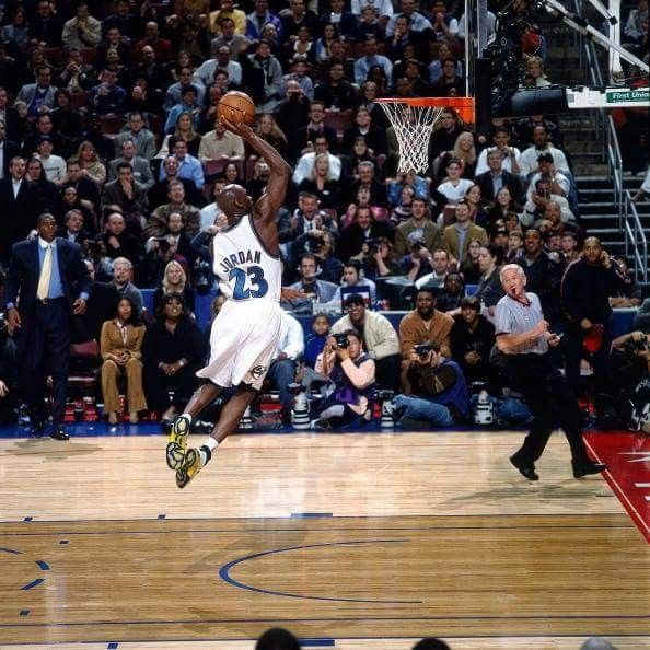 Michael Jordan Misses Dunk At 2002 All Star Game