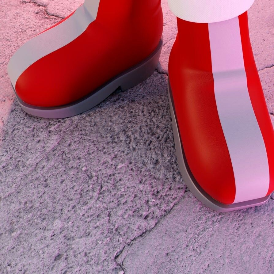 AMY Shoes Render. FAVORITE pics of Amy Rose Sonic fan