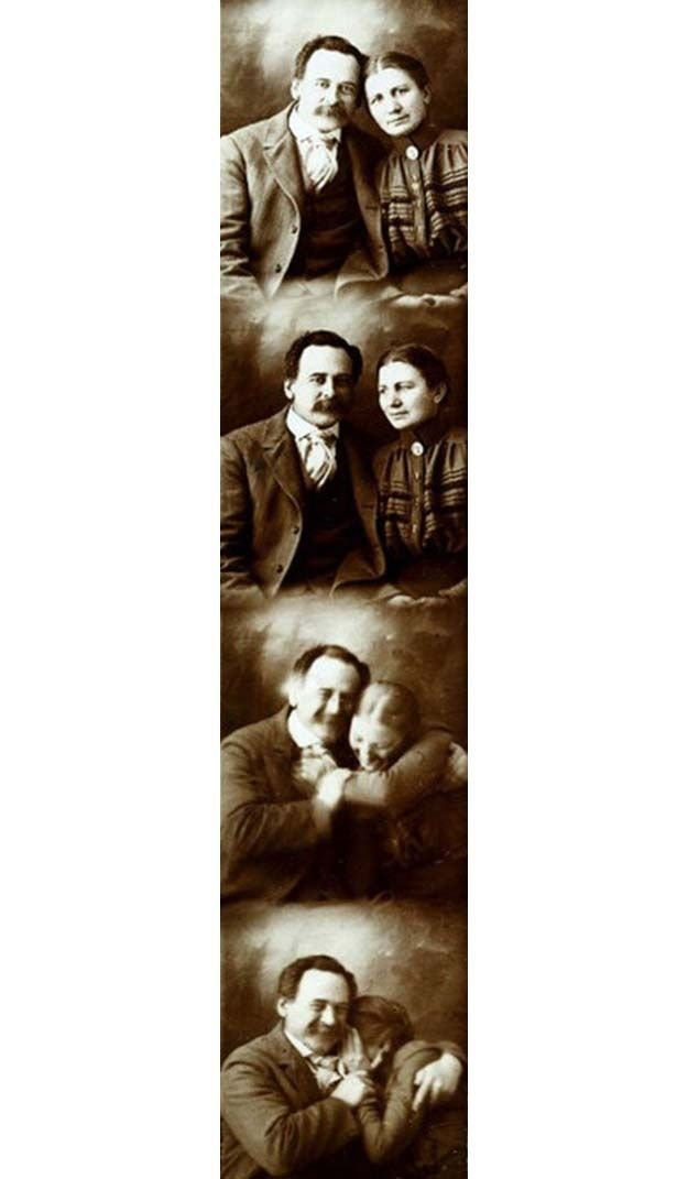 Photobooth pics back in the days of yore. Very cute!