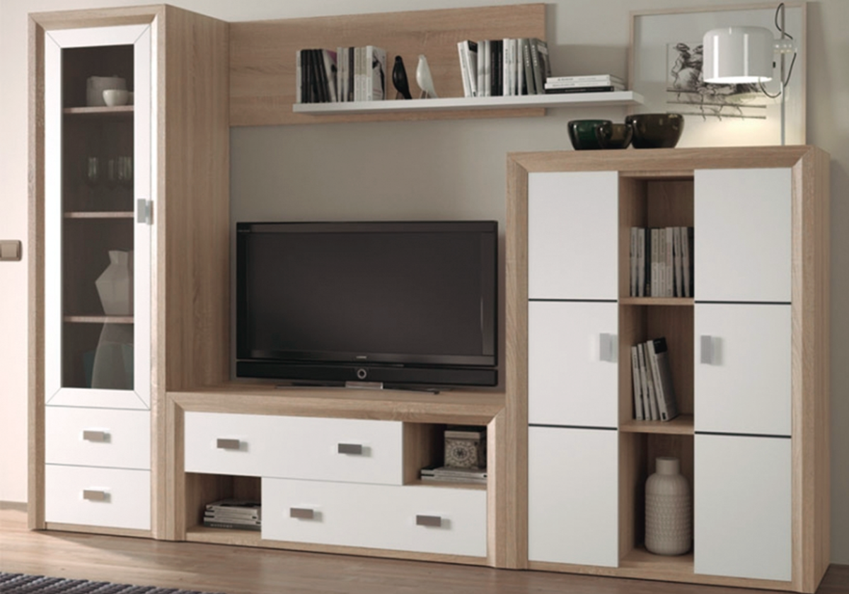 Sal N Moderno Bicolor Ideas Mueble Comedor Pinterest Tv Unit  # Muebles Coloniales Tijuana