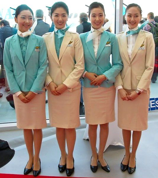 Model Baju Pramugari Korean Airlines