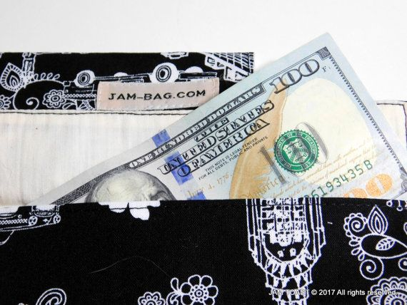 Cash Keeper Coupon Organizer Fabric Envelope
