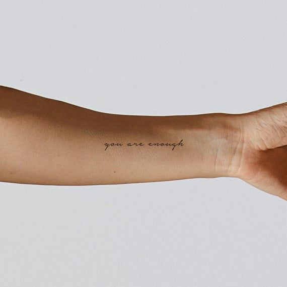 You Are Enough Temporary Tattoo Set of 3 | Etsy