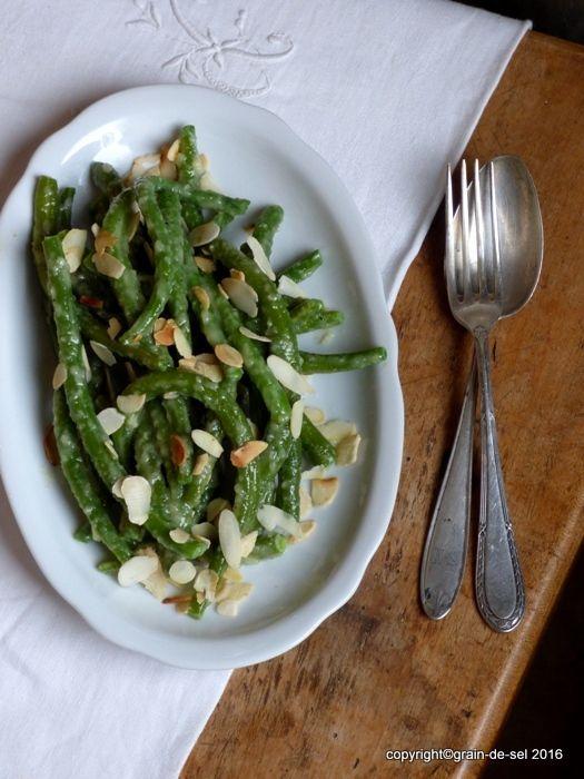 grain de sel - salzkorn: Zu Tisch mit #5... MB - Bohnensalat mit Knoblauch-Mayonnaise