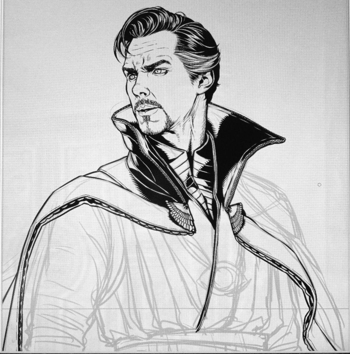 пупка картинки доктора стрэнджа карандашом основными