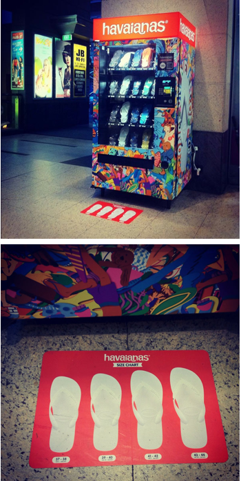 The Havaianas Vending Machine :-)