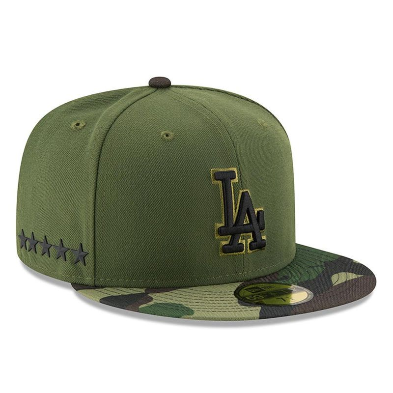reputable site a06f2 49be5 Los Angeles Dodgers New Era 2017 Memorial Day 59FIFTY Fitted Hat - Green