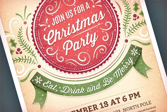 Christmas Party Invitation By Swedish Points On Creativemarket