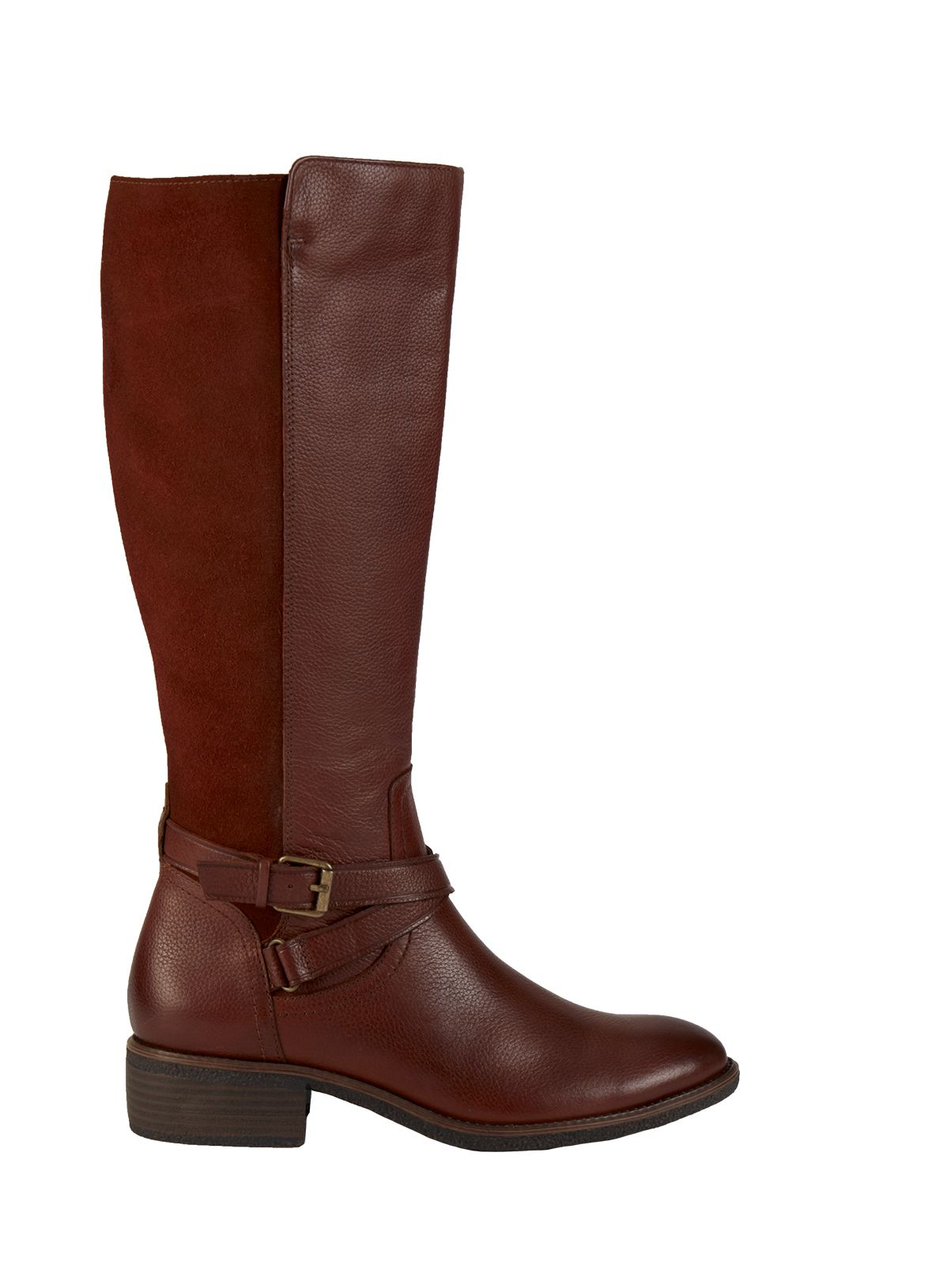 aaeced7d090 Online Exclusive Sole Comfort Brown Leather   Suede Riding Boots ...