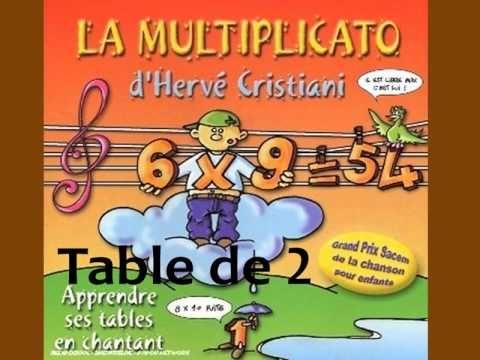 Herve Cristiani Table De 2 Multiplication Diy For Kids Math