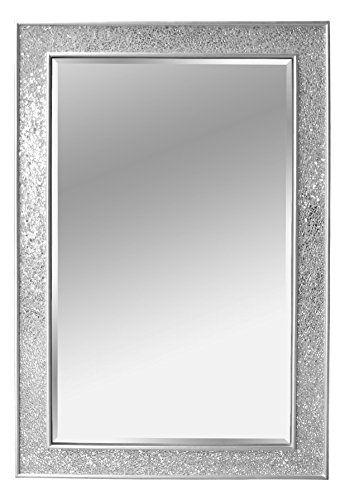Miroir Mosaïque En Bois Argent Grand 90 X 60 Cm Inn Https