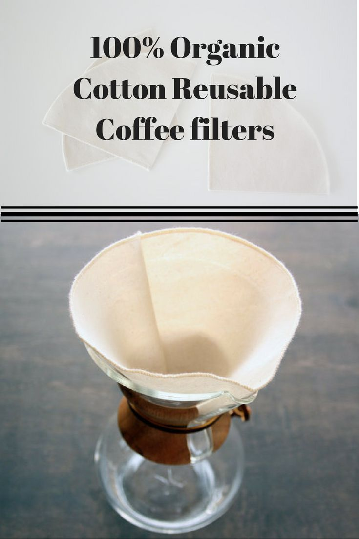 Organic cotton reuseable coffee filters   Natural Life   Pinterest ...