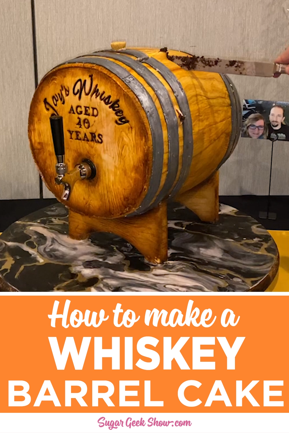 Photo of Whiskey Barrel Cake Tutorial