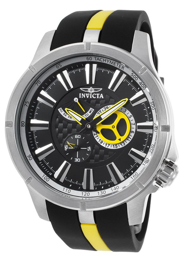 Invicta 20334SYB Watches,Men's S1 Rally Black and Grey Polyurethane Grey Dial, Sport Invicta Quartz Watches