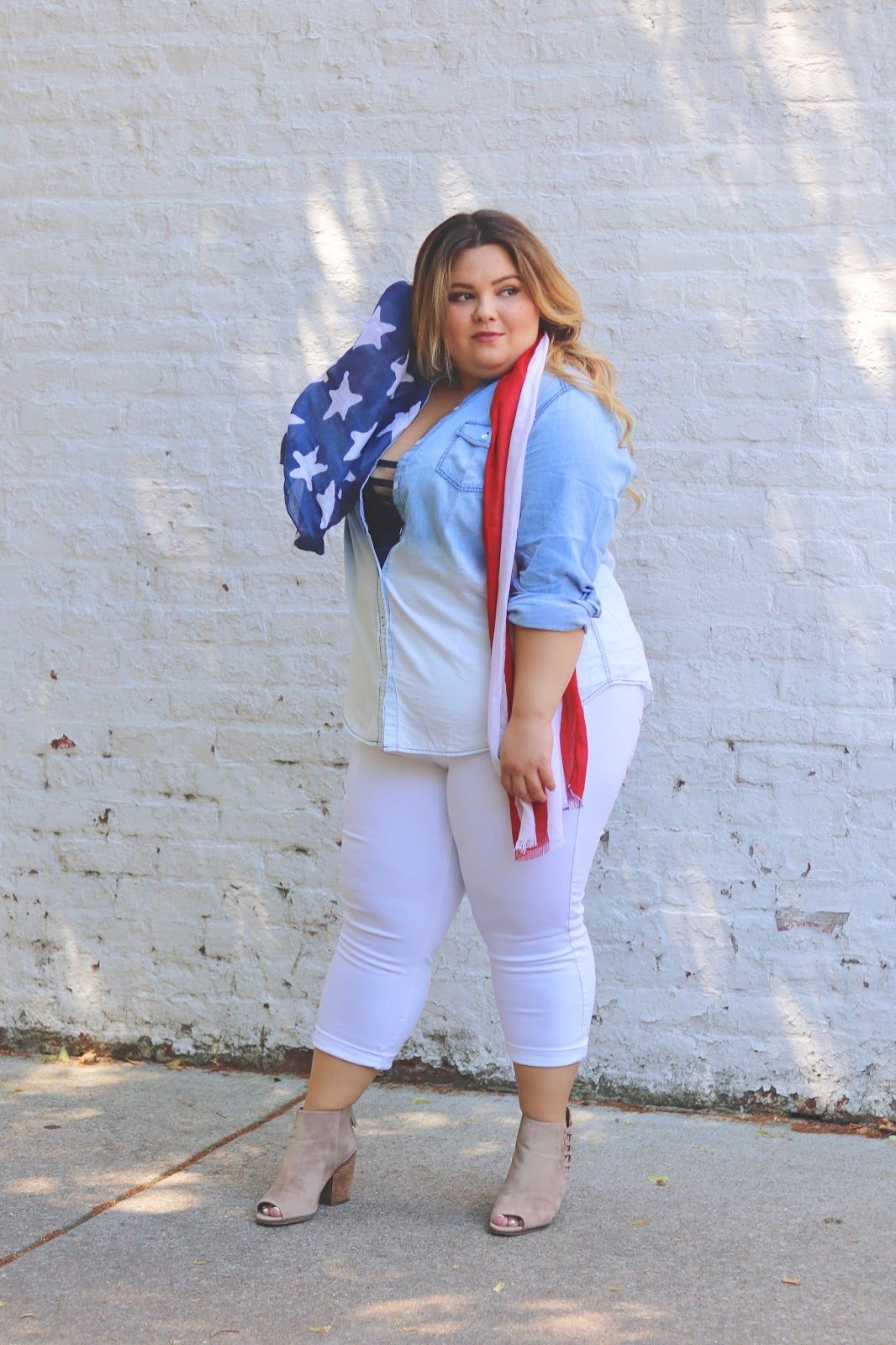 410421028ba Need some 4th of July plus size outfit inspiration  Check out my latest post  on Natalie in the City where I pair a bralette