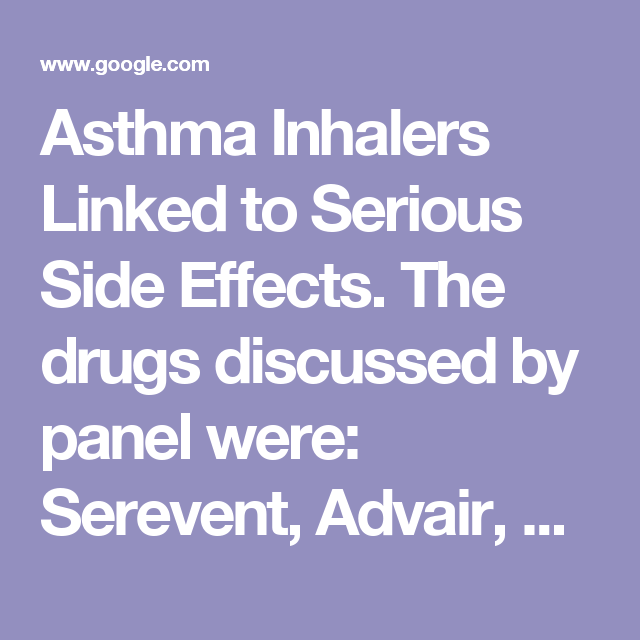 Pin On Asthma Inhalers Linked To Bad Health And Worse