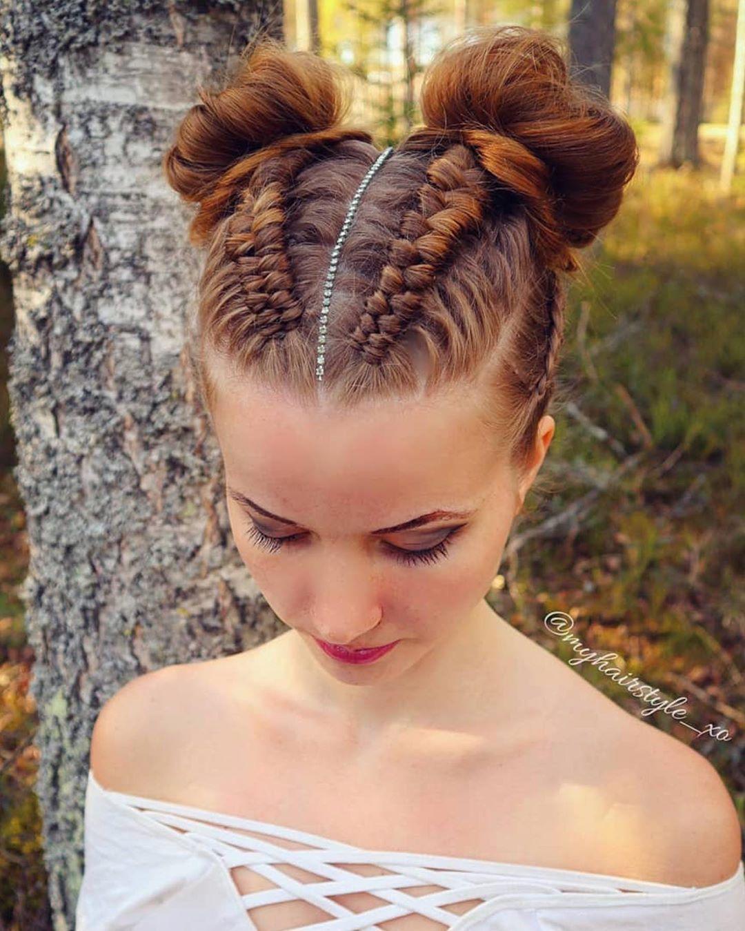 33 Best 2019 Hairstyles And Haircuts For Female Braids For Short Hair Viking Hair Hair Styles