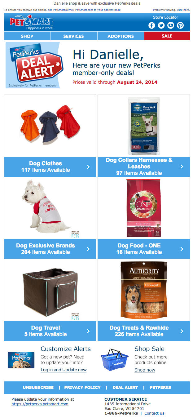 Petsmart Pet Perks Email 2014 Dog Clothes Petsmart Pets