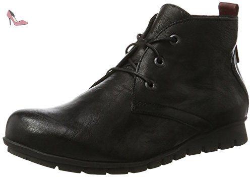 Think Guad, Desert Boots Femme, Noir (Schwarz 00), 42 EU
