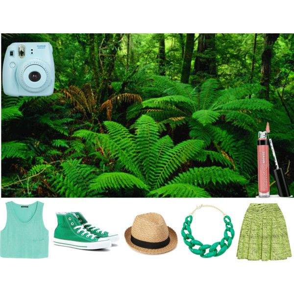 """""""Rainforest"""" ~ Deep greens and light blues are the perfect colours for a rainforest colour pallette... Go green this Autumn!!   Follow me on Polyvore --> delaneybrooklyn"""