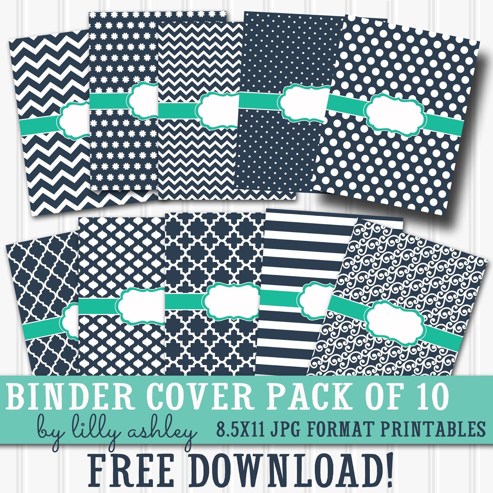 free printable binder covers pack of 10 diy school supplies