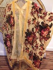 Kimono Jacket,Festival jacket,devore jacket,duster jacket,Fringe,velvet kimono