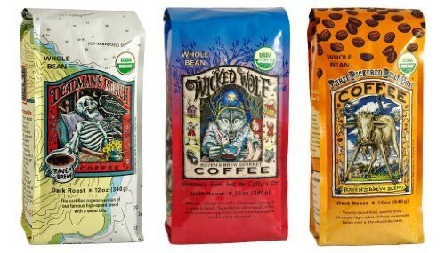 Raven's Brew Whole Bean Organic Coffee Variety Pack, 12 Ounce (Pack of 3) - http://thecoffeepod.biz/ravens-brew-whole-bean-organic-coffee-variety-pack-12-ounce-pack-of-3/