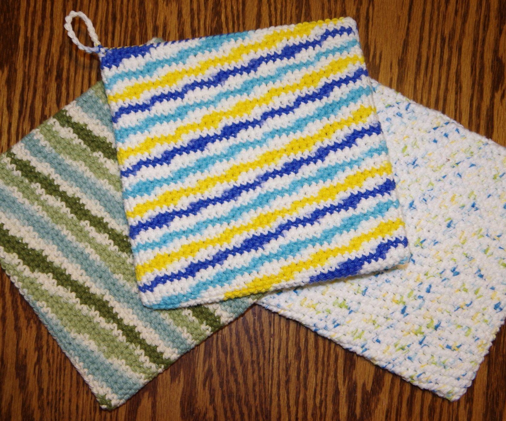 Double Thick Single Crochet Potholder | Crochet potholders ...