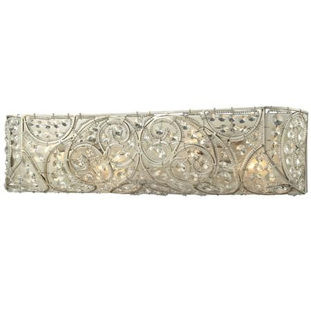 Antique Silver Filigree Crystal Bath Light 4 Light With Images