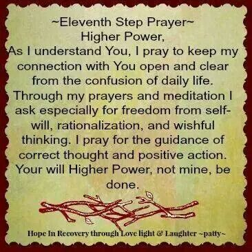 8th Step Prayer Recovery Quotes Sober Life Prayer Verses