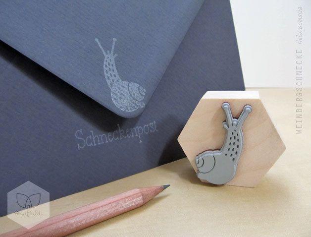 Stempel Maxi Schnecke Stempel Dawanda Und Geschenkpapier