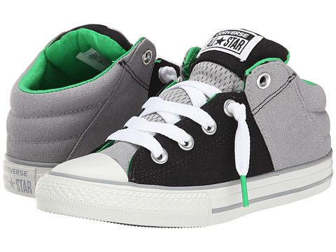 Converse Kids Chuck Taylor® All Star® Axel Mid (Little Kid/Big Kid) Black/ Dolphin - Zappos.com Free Shipping BOTH Ways