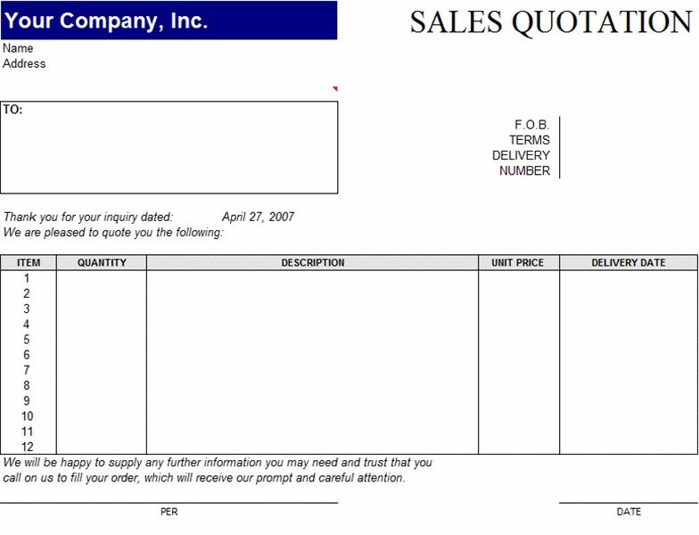 Are You Looking For Sale Quotation Templates In Excel Format Or
