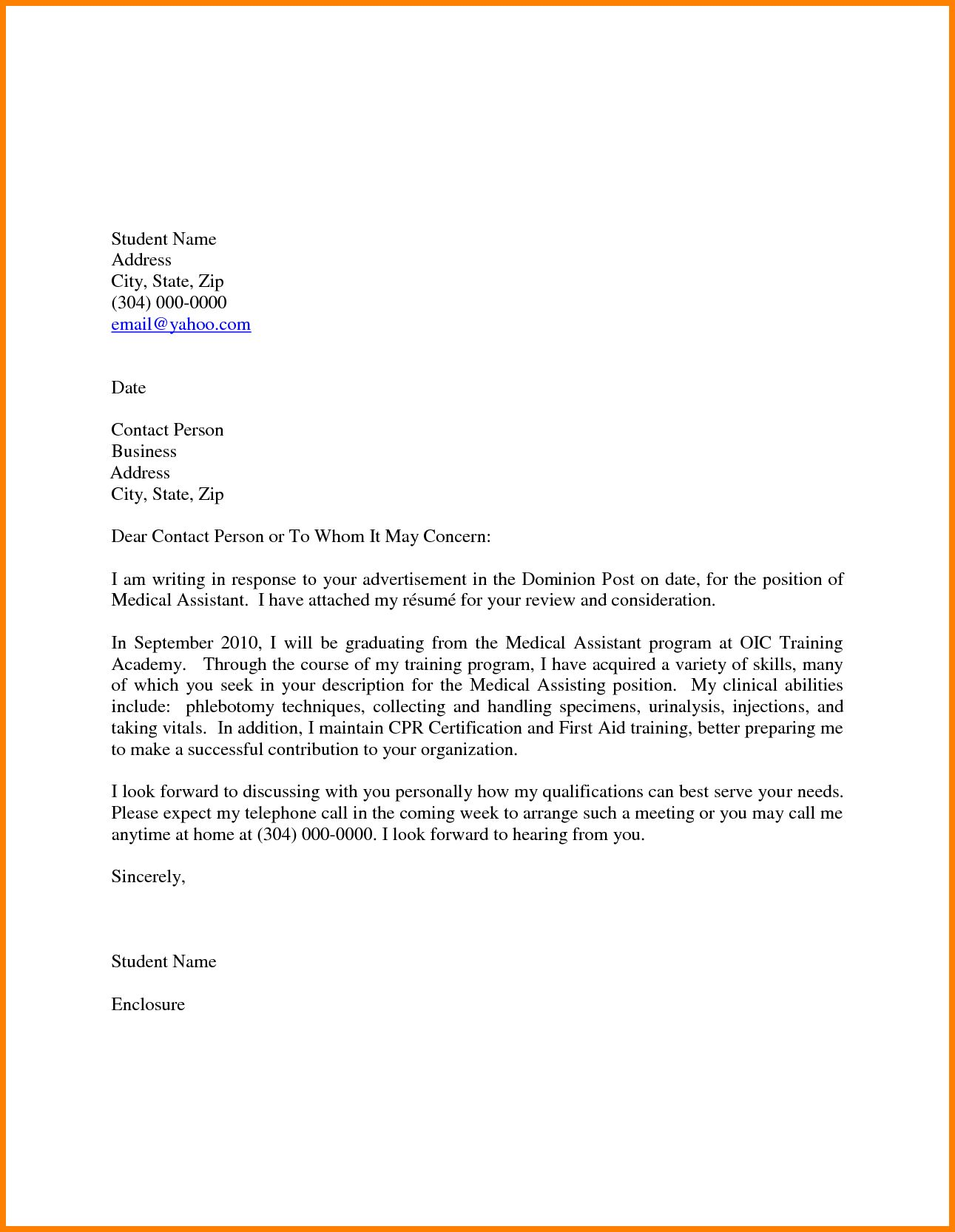 Pin On Resume Cover Letter Example