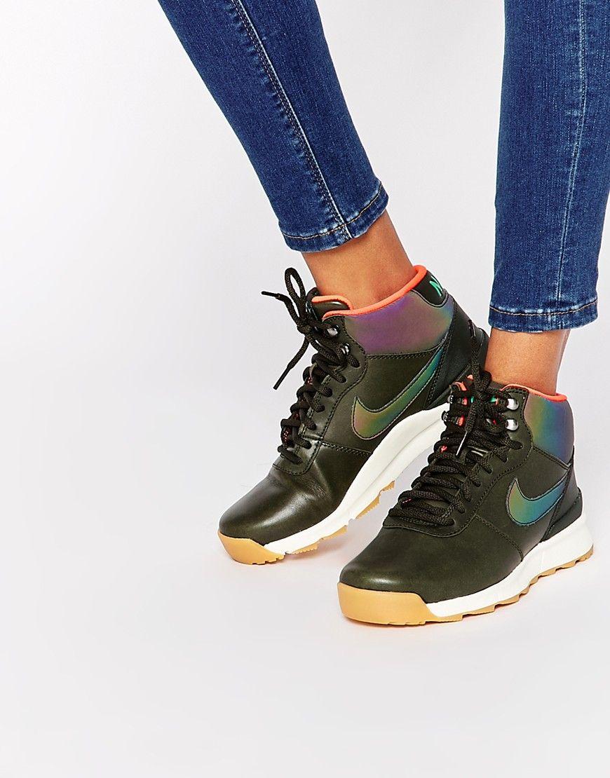 Women's Khaki Nike Acorra Reflect Khaki Hi Top Trainers II565385s