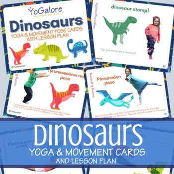 Are you looking for dinosaur activities for preschoolers? Look no further, we've got you covered! Our newly redesigned dinosaur yoga pose card deck has an entire Yogalore lesson plan.