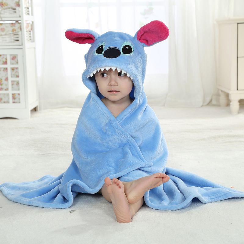 b44e702dbb3 Velvet Hooded Cartoon Animal Lilo   Stitch Cloak Newborn Baby Clothes  baby   clothing  lovejoynet