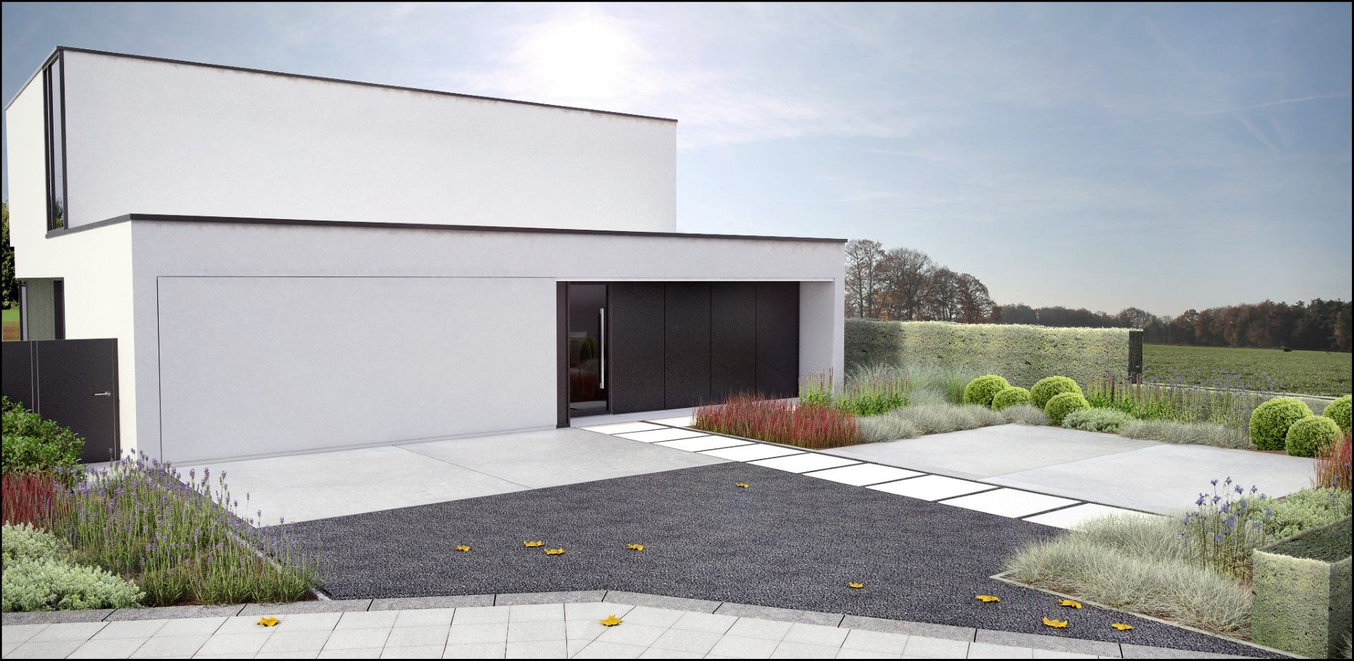 ECO Tuinarchitectengroep   3D projecten   Hedendaagse tuin Vlaams-Brabant