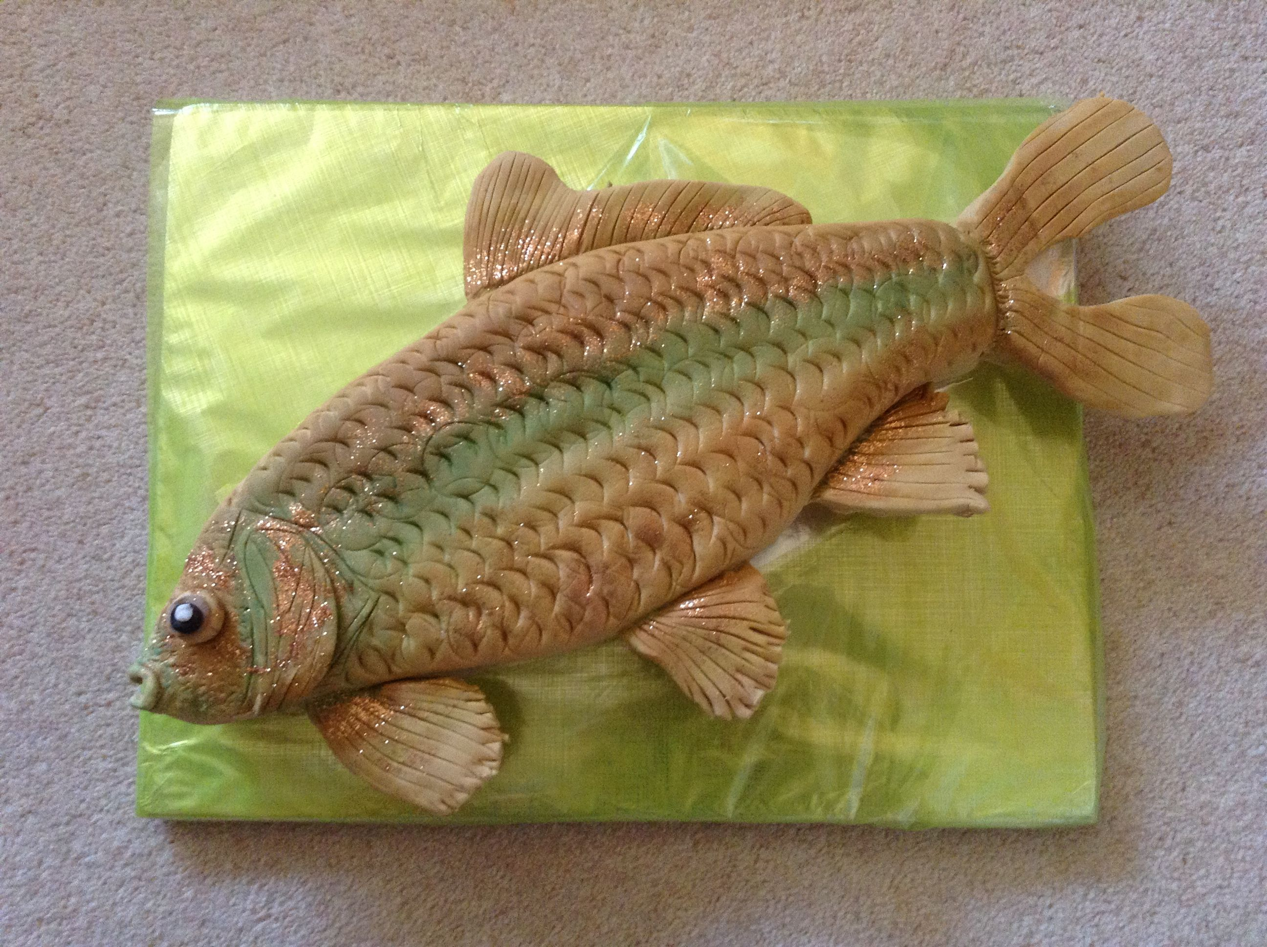 Carp Cake I Made For My Sons Birthday Cakes Ive Made Pinterest