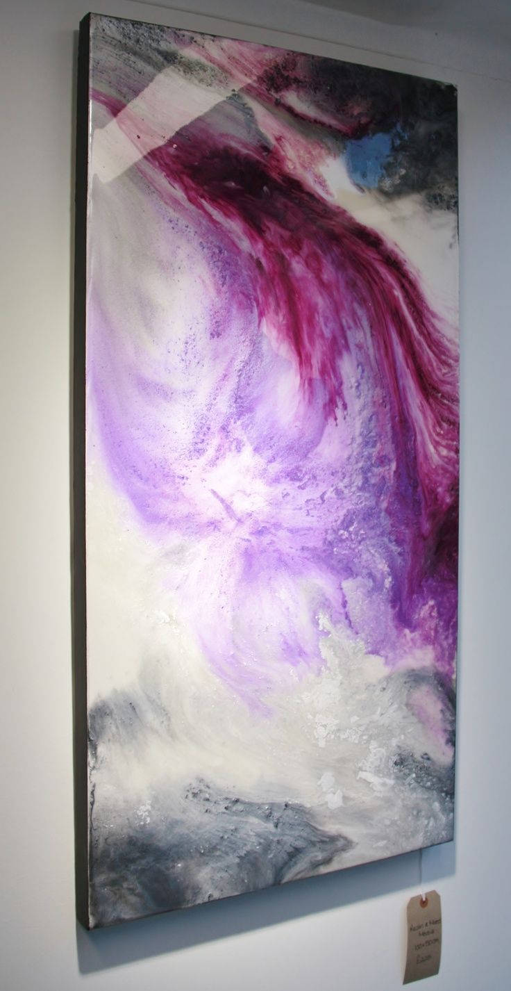 Epoxy Painting Canvas : Resin art gallery let shine http facebook